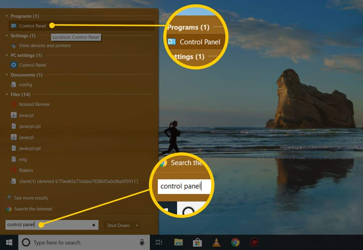 Setelah halaman menu tampil, kini Anda bisa klik menu Start dan masuk ke opsi Control Panel