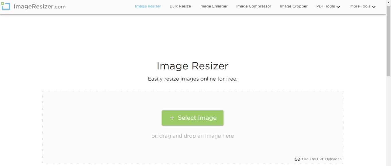 Setelah itu, kunjungi website www imageresizer com