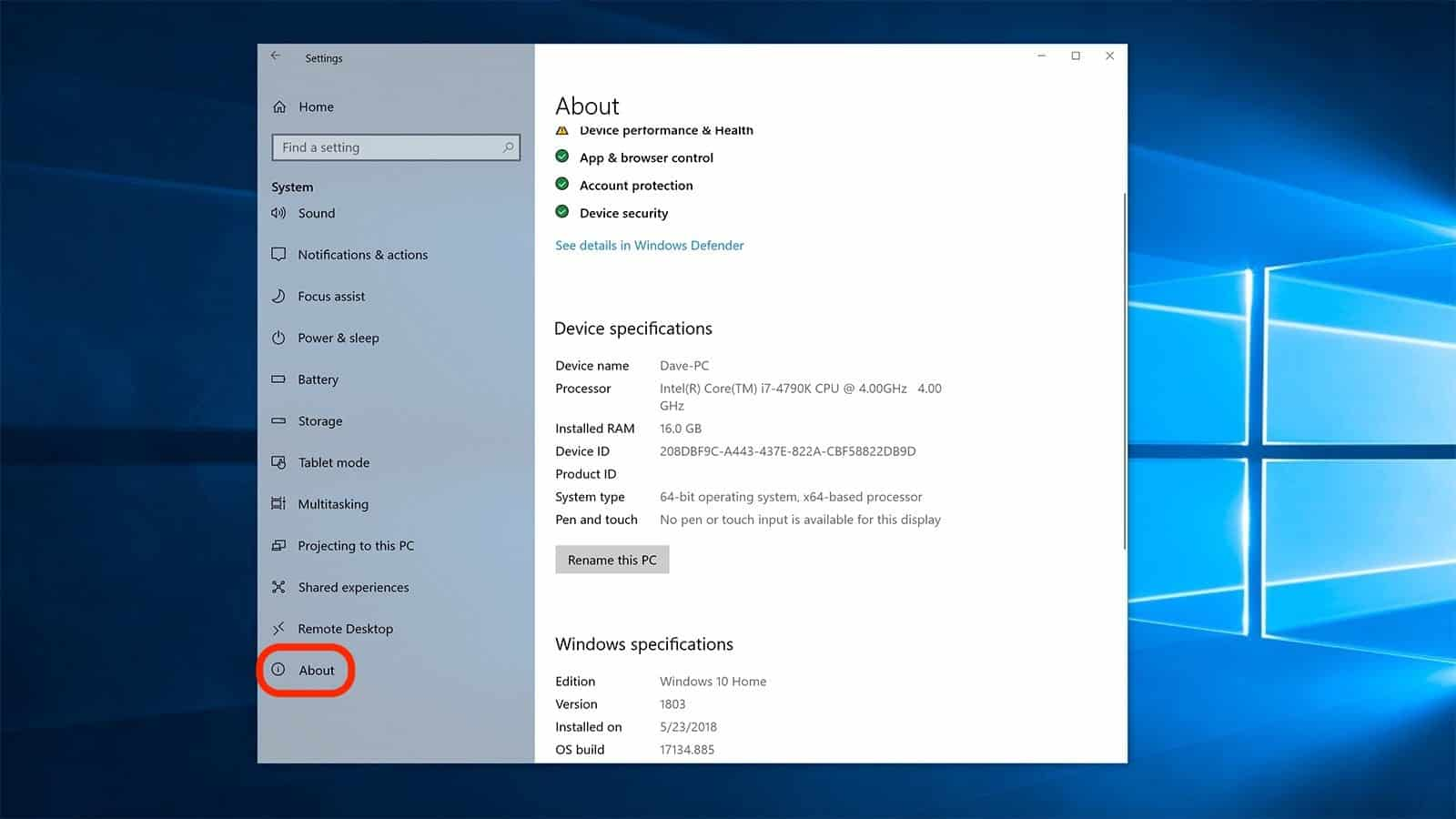 Spesifikasi PC laptop