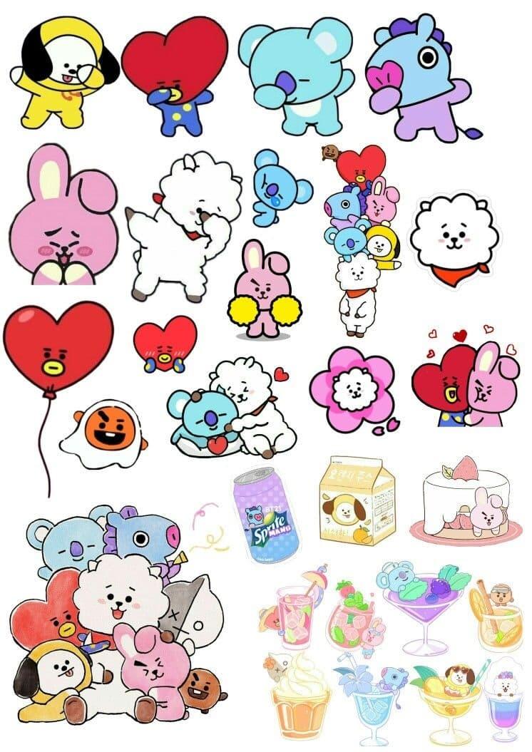 Sticker BT21 Cute