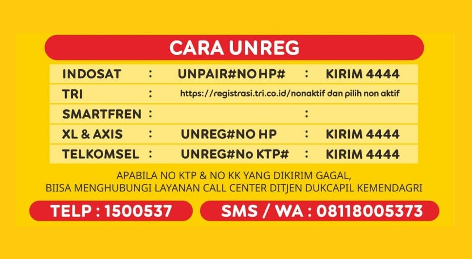 Unreg kartu Indosat yang hilang